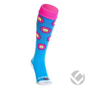 Brabo Socks Flowers Baby blauw-Roze