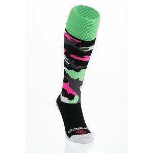 Brabo Socks Camo Zwart/Roze